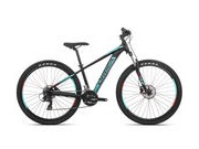 ORBEA MX 27 XS 60  Colour: Satin Black/Turquoise/Red;  click to zoom image