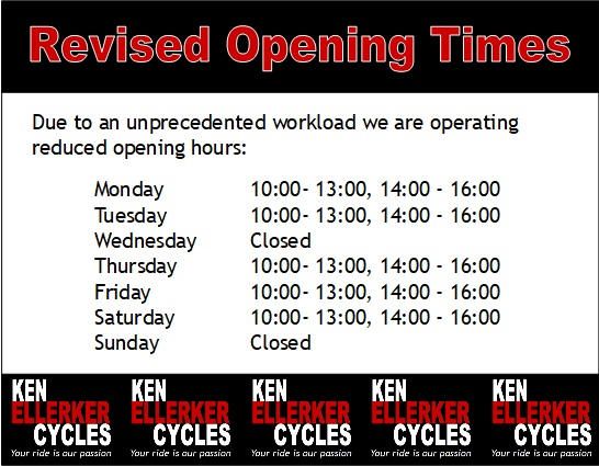 Revised Opening Times
